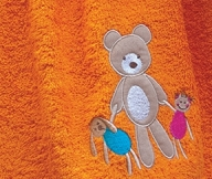Bear Toys Colors Orange | LaC 08 | Bath Towel